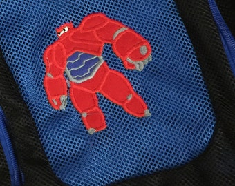 Monogrammed Backpack | Mesh Backpack | Back to School | Baymax Backpack | Boys Backpack | Mesh Backpack | Embroidered Mesh Backpack