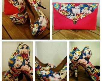 Wonder Woman ispired shoe and bag set