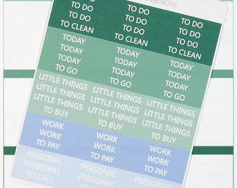 54 December Header Planner Stickers for Erin Condren Life Planner, Plum Paper or Mambi Happy Planner