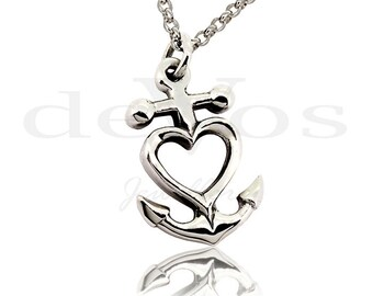 Anchor Heart Pendant
