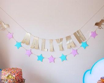 Glitter Unicorn Party Banner & Garland Set!