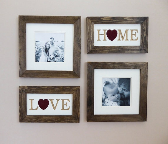 Rustic Picture Frame Set Gallery Wall New Home Gift