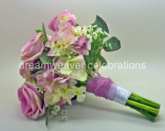 ELOISE, Bridal Bouquet, Silk flowers, Wedding accessories.