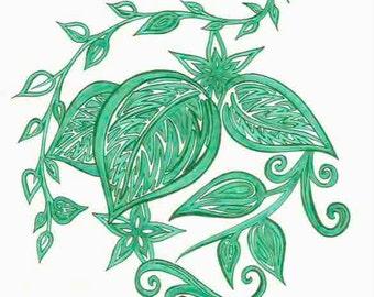 Tropical Leaves Print 2