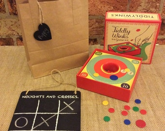 Childrens Gift Set Including Noughts and Crosses and Tiddly Winks Game