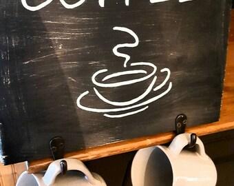 Handpainted Rustic Coffee Cup Holder