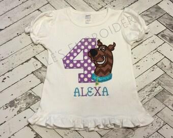 Scooby Doo birthday shirt/ Scooby Doo Birthday/ Scooby doo girls shirt