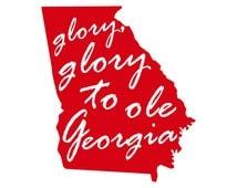 Glory Glory to Ole Georgia Vinyl Decal, UGA Decal, UGA Sticker, University of Georgia Decal, University of Georgia Sticker, Bulldogs Decal