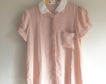 You're a Peach collared blouse