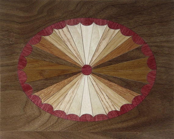 "4""x 5"" Marquetry Project Kit - Sunburst"