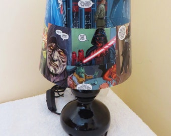 Custom comic book lamp