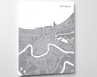 New Orleans Street Map Print Map of New Orleans City Street Map New Orleans Louisiana Poster Wall Art 7122P