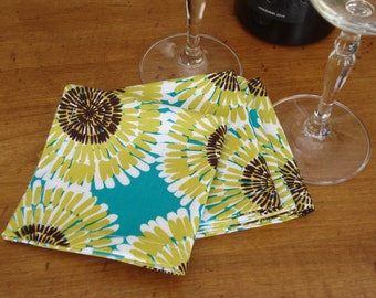 SALE***Cocktail Napkins / Handmade Colorful Reusable Party Napkins - Set of 4 / Hostess Gift/Ready To Ship