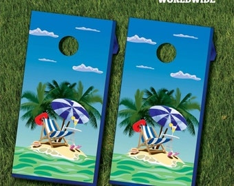 Small Island Cornhole Game With Cornhole Bags