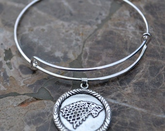 Game of Thrones Expandable Bangle Bracelet Winter is Coming