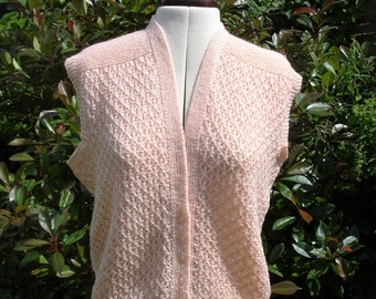 Vintage 1940's style hand knitted waist coat