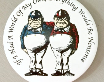 Alice In Wonderland Coaster - Tweedle Dum & Tweedle Dee