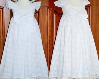 Extra Long Blessing Dress! Flower Girl Dress! Heirloom Dress !! Available size up to 5T