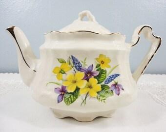 Arthur Wood Yellow Floral Teapot
