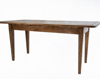 658 Small farmhouse table for kitchen banquette