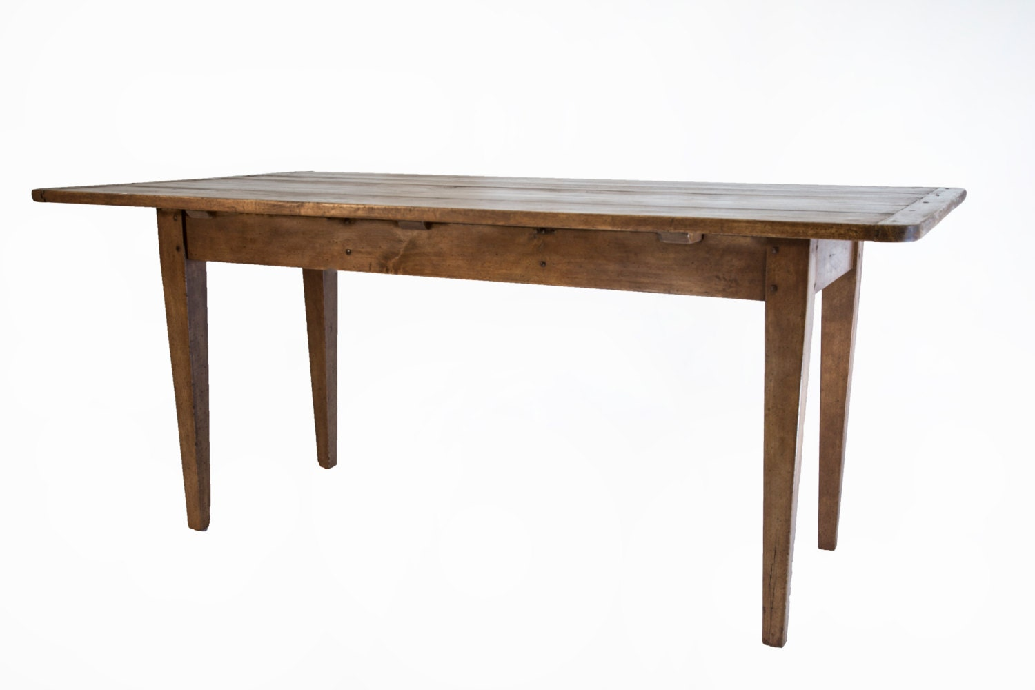 658 Small farmhouse table for kitchen banquette by SuzanneBonham