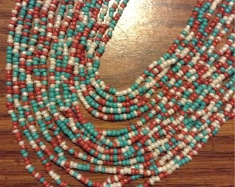 Beautiful Multi Strand Bead Necklace