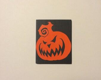 Jack O' Lantern, Pumpkin, Halloween, Kitchen Decor, Magnet.