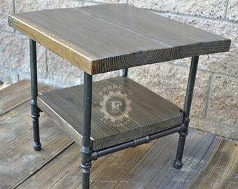 Steampunk Table, Industrial Nightstand, Industrial Decor, Steampunk Decor,  Side Table, Rustic