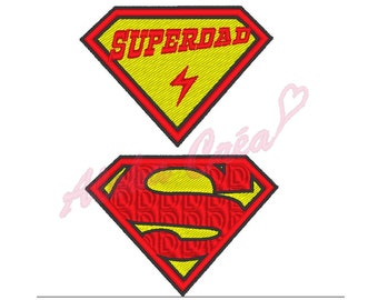 Machine Embroidery Design superdad - Instant Digital Download