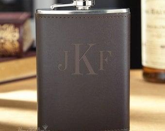 Classic Monogram Fitzgerald Personalized Flask - Flask 8 oz