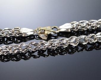 "14K Fancy Link Necklace 18"" White Gold"