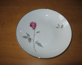 "Vintage Contour Treasure Pink Roses China by Japan ""Coupe Soup Bowl """
