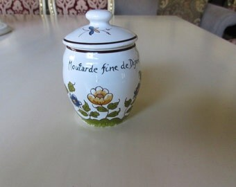 FRANCE REVOL DIJON Mustard Jar with Lid