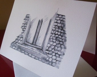 Greeting Card / Window  Note Card/ Window Greeting Card / Window Pencil Art / Blank Greeting Cards  N 10