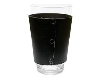 Leather Pint Sleeve Handmade By Hide & Drink - Black