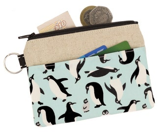Cute coin pouch,Coin purse,Zipper pouch,Change Purse,Card holder wallet,Penguin,Cute,Pocket,Gift idea