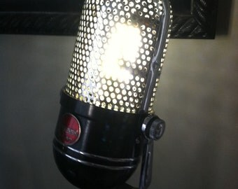 Vintage Argonne AR-57 Pill Microphone Upcycled LED Lamp!