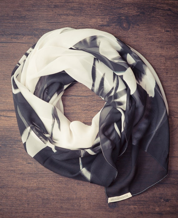 Floral Hand-Pressed Scarf