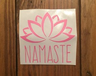 Namaste Lotus Flower Decal