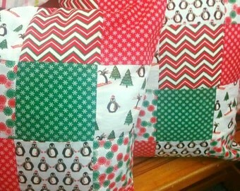 Christmas patchwork cushion Set of two