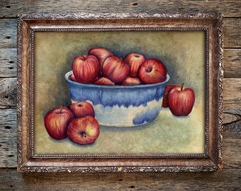 Bowl of Apples - Giclée Print of Original Watercolor Painting