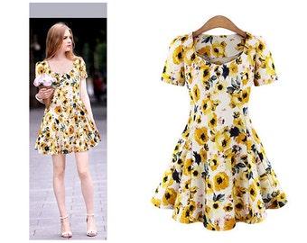 Flower-Print Dress IARD101796