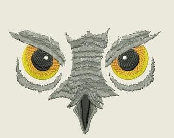 Owl Eyes Embroidery Design