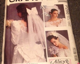 McCall's Crafts  P296 5204 Alicyn Exclusives Sewing Pattern Bridal Headpiece Veil Hat Bow 9 Styles New Uncut