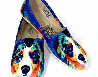 Australian Shepherd Shoes blue  !!