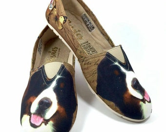 Bernese Mountain shoes !! Women shoes, Dog breed, dog lover shoes