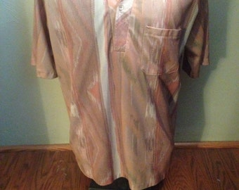 1970's Mens Vintage Polyester Shirt
