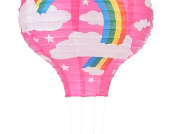 Fuchsia Rainbow Hot Air Balloon Paper Lantern - 14HAB-RP