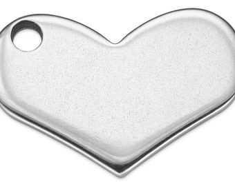 9 pieces Steel Charms Heart 12x18.75 mm (STF400115)