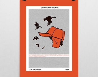 Catcher in the Rye, J. D. Salinger, Poster Print, Literary Print, Quote Poster, Literary Art